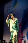 Chodo en el Círculo de BB.AA de Madrid en la sala de las columnas con Talento Brasil