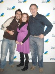 Chodo, Laura y Manu en el Fotocall
